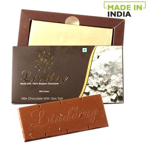 Lindberg Sea Salt - Pure Belgian Milk Chocolate, 50 g