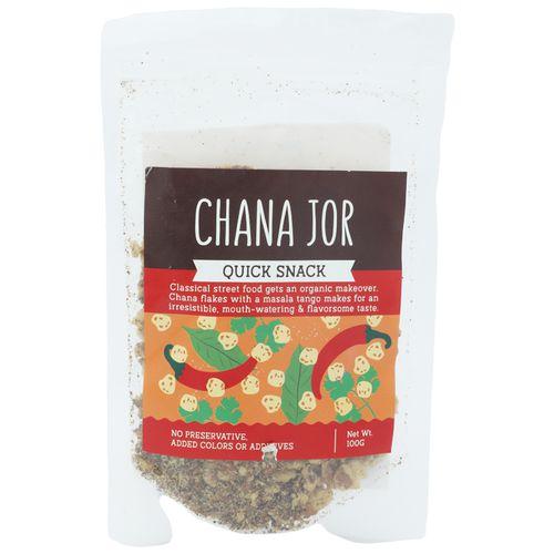 Healthy Buddha Organic Namkeen - Chana Jor Garam Flakes, 100 g