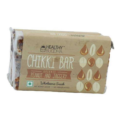 Healthy Buddha Organic - Chikki Bar, 120 g Pack of 2