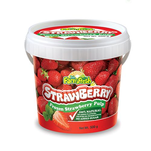 Jain Farm Fresh Frozen Pulp - Strawberry, 500 gm