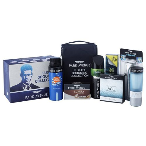 Park avenue Luxury Grooming Collection For Men With Free Travel Pouch, 7 pcs