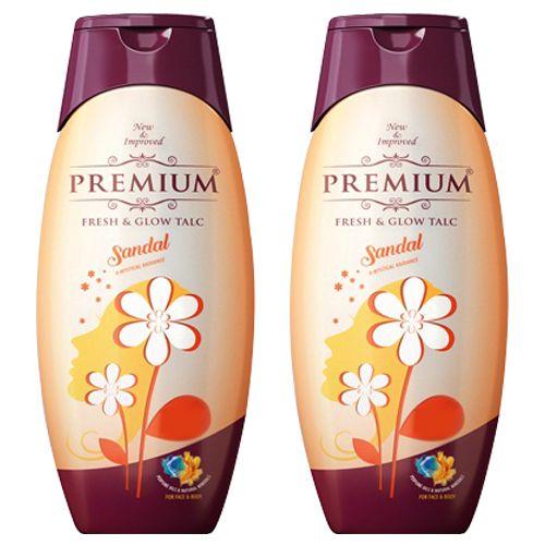 Premium Talc - Sandal, 300 g Buy 1 & Get 1 Free