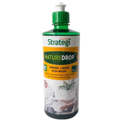 Herbal Strategi Naturedrop - Herbal Liquid Dish Wash, 500 ml
