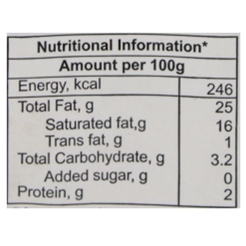 Amul Fresh Cream - 25% Milk Fat Low Fat, 250 ml