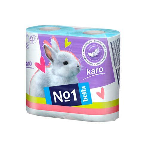 Bella Karo Toilet Paper - Blue, 4 pcs