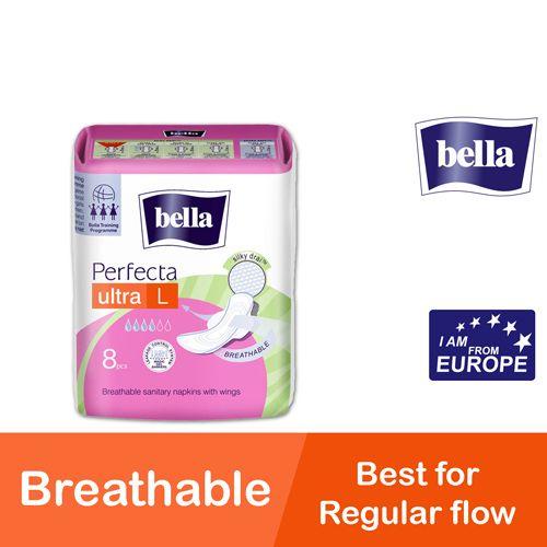Bella Sanitary Napkins - Perfect Ultra L Ultra Thin, 8 pcs