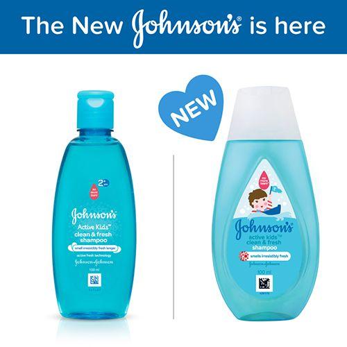 Johnson's Active Kids Shampoo - Clean & Fresh, 100 ml