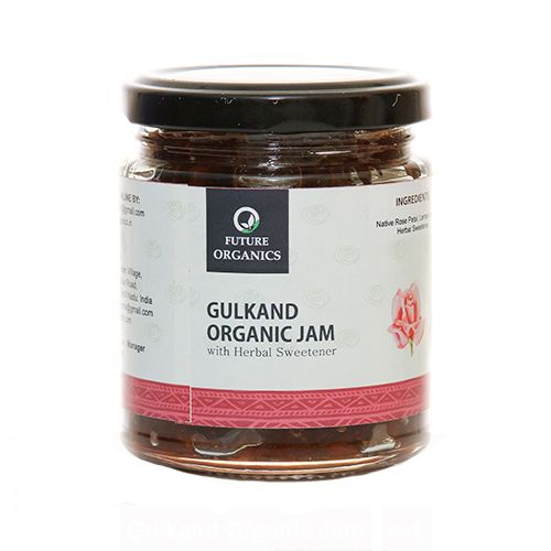 Future Organics Jam - Gulkand Organic with Herbal Sweetener, 250 g
