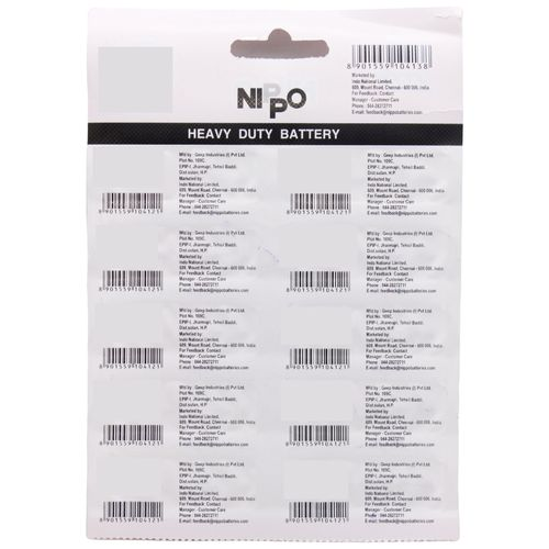 Nippo Battery AAA 4UT Hi-Top, 10 pcs