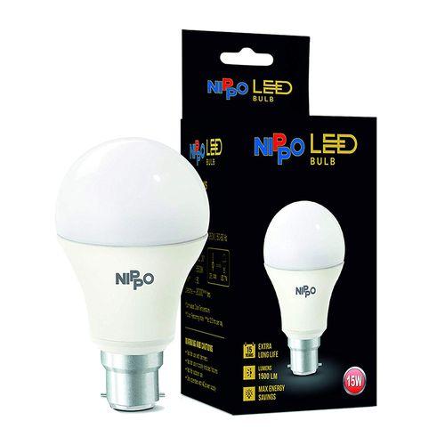 Nippo LED Bulb - 9 W, Cool Daylight, B22 Base, 1 pc