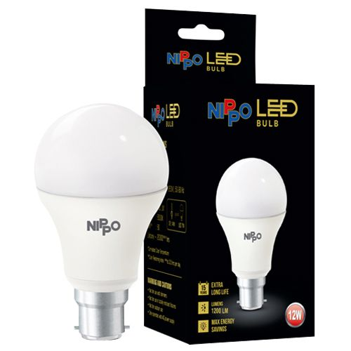 Nippo LED Bulb - 12 W, Cool Daylight, B22 Base, 1 pc