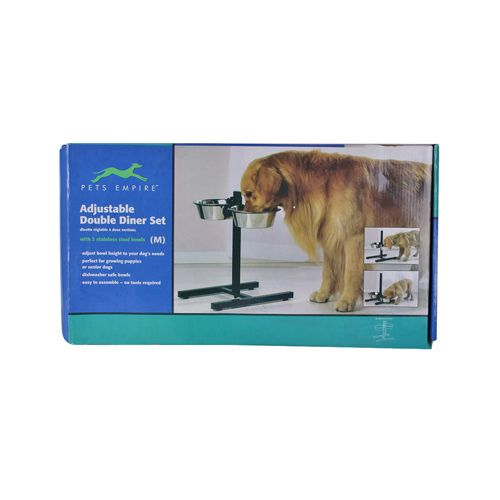 Pets Empire Adjustable Height Dog Feeding Diner Set, 950 ml