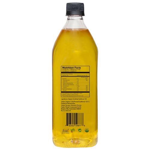 Daana Single Origin Organic Sunflower Oil (Cold Pressed), 1ltr