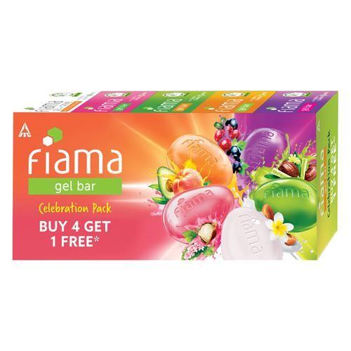 Fiama Gel Bathing Bar Celebration Pack - With 5 Unique Gel Bars, 125 g (Buy 4 Get 1 Free)
