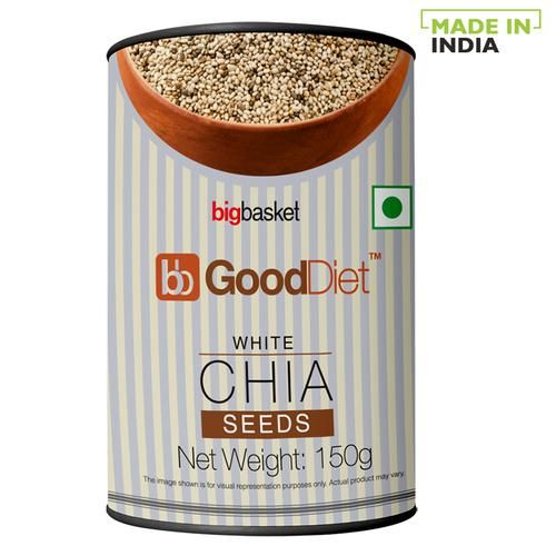 GoodDiet Chia Seeds - White, 150 g