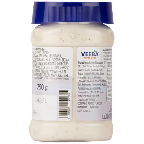 Veeba Mayonnaise - Garlic, 250 g
