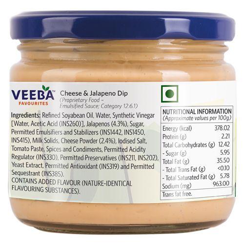 Veeba Dip - Cheese & Jalapeno, 300 g