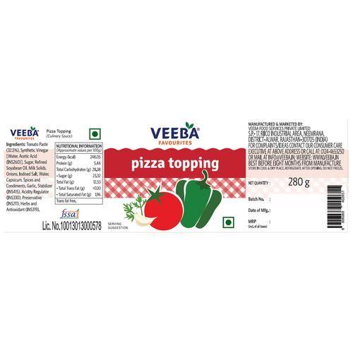 Veeba Sauce - Pizza Topping, 280 g