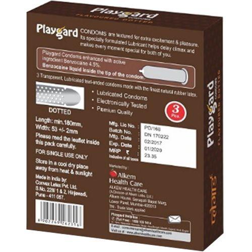 Playgard Condoms - Chocolate, 3 pcs