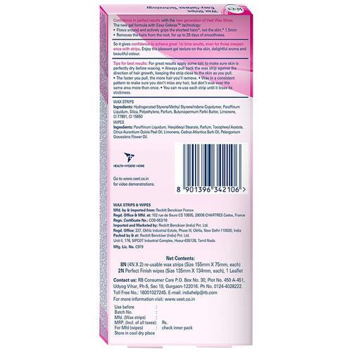 Buy Veet Hair Removal Waxing Strips Kit Normal Skin Online At Best Price Bigbasket
