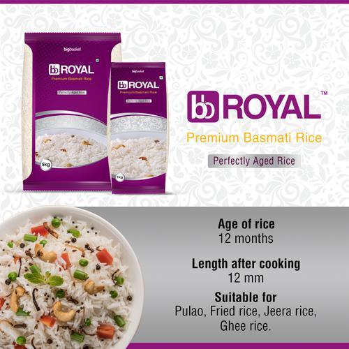 bb Royal Basmati Rice/Basmati Akki - Premium, 5 kg