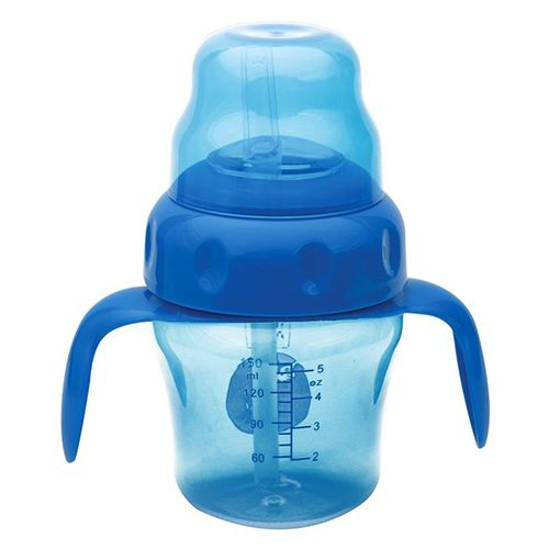 Mee Mee Baby 2-In-1 Spout & Straw Sipper Cup - Blue, 150 ml