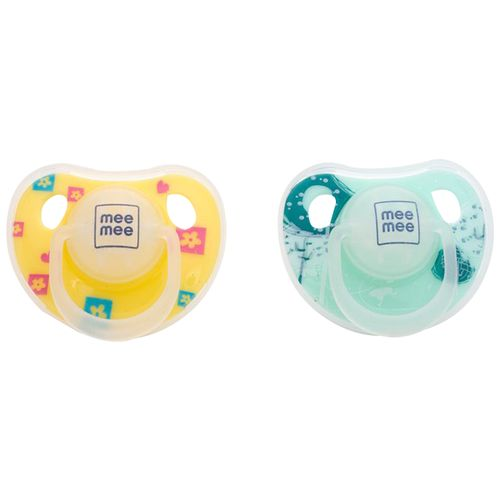 Mee Mee Orthodontic Baby Pacifier - Yellow/Green, 1 pc