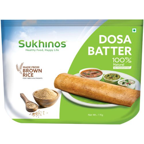 Sukhinos Dosa Batter - Brown Rice, 1 kg Pouch