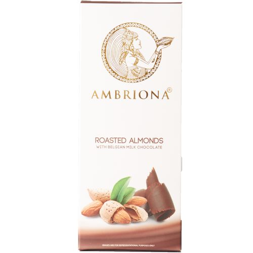 Ambriona Milk Chocolate - Roasted Almond Belgian, 47 g