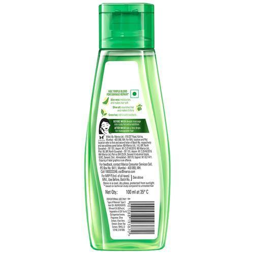 Hair & Care Non-Sticky Hair Oil For Damage Repair - Aloe Vera, Olive Oil & Green Tea, 100 ml