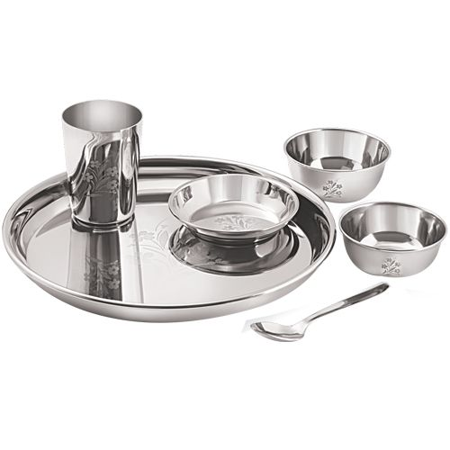 Buy Neelam Ss Lazer Etching Dinner Set 6 Pcs Online At Best Price