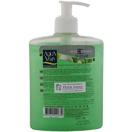 Aqua Vera Hand Wash - Bamboo Forest, 500 ml