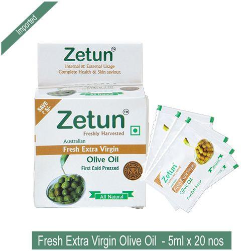 Zetun Australian Olive Oil - Extra Virgin, 5 ml Pack of 20