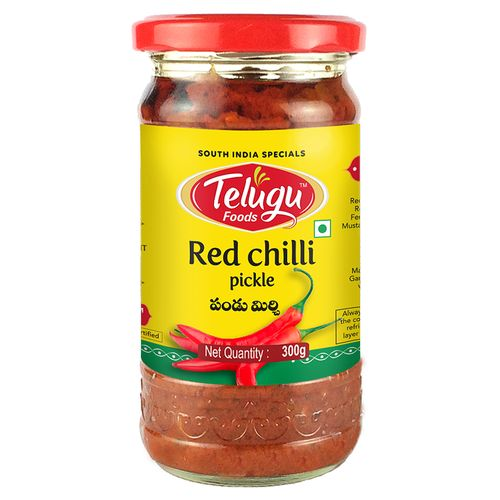 Telugu Pickles Pickle - Red Chilli, 300 g