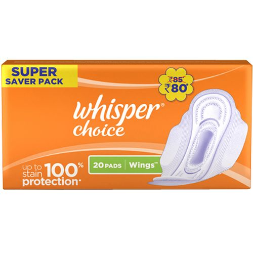 Whisper  Sanitary Pads - Choice Wings Regular, 20 pcs