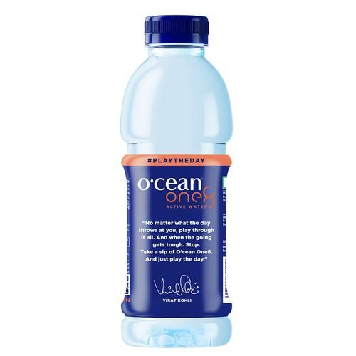 Ocean One8 Active Fruit Water - Peach Flavour, 500 ml