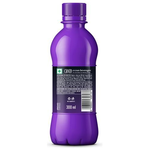 Ocean Fruit Wave - Apple & Blueberry Flavour, For Kids, 300 ml