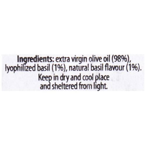 Olitalia Basil Condiment - Flavoured Extra Virgin Olive Oil, 250 ml
