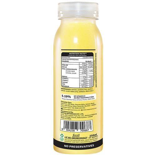 Raw Pressery 100% Natural Cold Pressed Juice -  Aloe Vera Lemonade, 250 ml