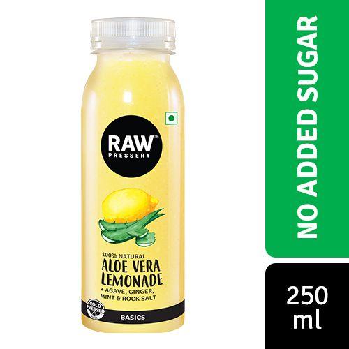 Raw Pressery Aloe Vera Lemonade - 100% Natural Cold Pressed Juice, 250 ml