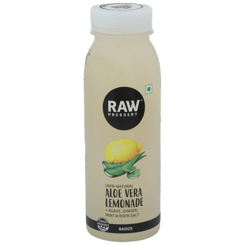 Raw Pressery Aloe Vera Lemonade - 100% Natural Cold Pressed Juice, 250 ml