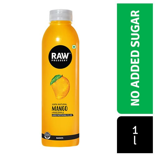 Raw Pressery Mango - 100% Natural Cold Pressed Juice, 1 L