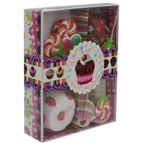 Mould Gift Set - Paper Baking Cups Muffins/Cake With Toppers Sticks Bb098  sc 1 st  BigBasket & Buy Dp Mould Gift Set Paper Baking Cups Muffinscake With Toppers ...