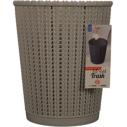 Collection Dustbin/Waste Paper Basket - Plastic, Grey, BB226, 6 L