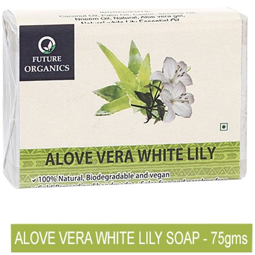 Future Organics Soap - Alovera White Lilly, 75 g