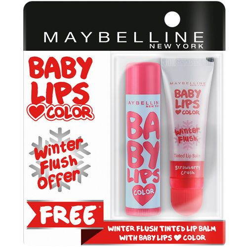 Maybelline New York Baby Lips Color - Winter Flush, Candy Rush Cotton Candy, 13 g