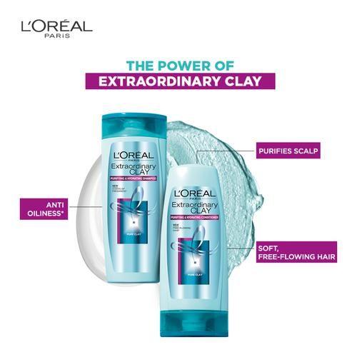 Loreal Paris Extraordinary Clay Shampoo, 640 ml
