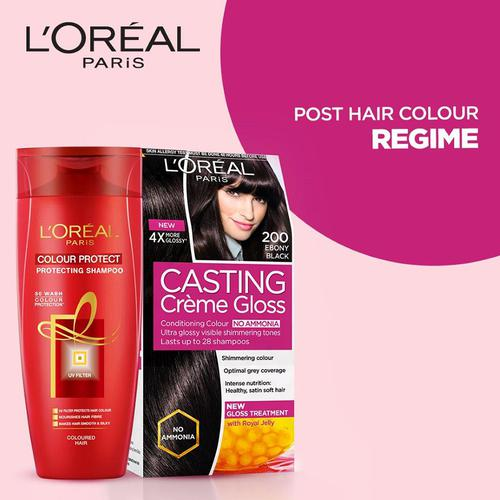 Loreal Paris Casting Creme Gloss Hair Color, 87.5 g + 72 ml 200 Ebony Black