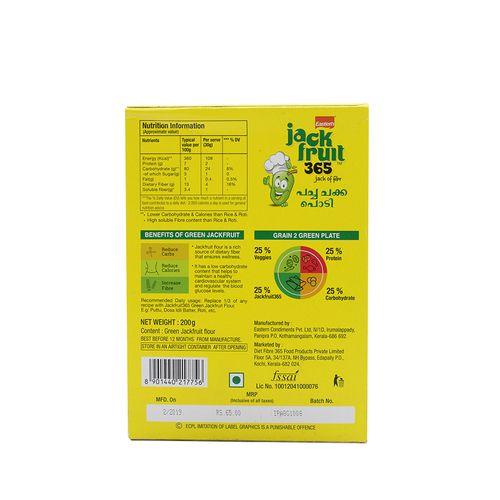 Eastern Jackfruit365 - Green Jackfruit Flour, 200 g