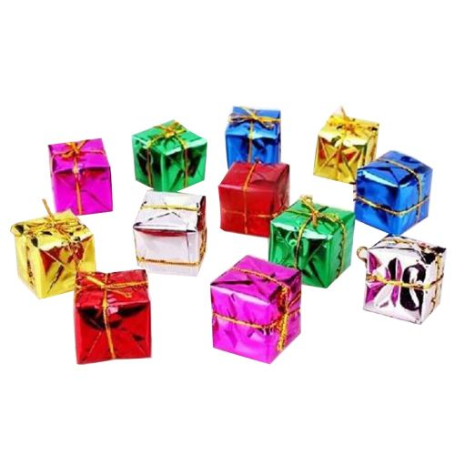 Christmas Boxes.Aarna Christmas Decoration Hanging Gift Boxes For Tree 12 Pcs